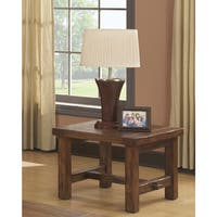 Emerald Pine Square End Table
