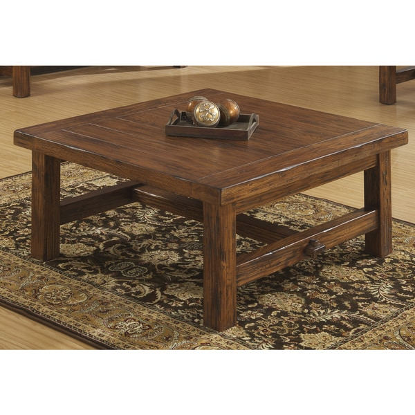 Emerald Pine Square Cocktail Table Free Shipping Today Overstock