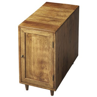 Wet Sand Mango Wood Chairside Storage Cubby
