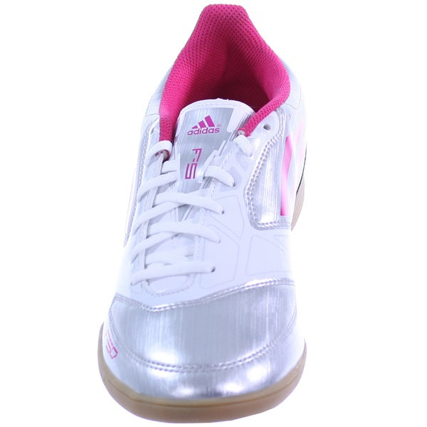 Shop Adidas Women's 'F5' SilverPink Indoor Soccer Lifestyle