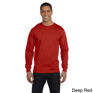 Hanes Men's 'Beefy-T' 6.1-ounce Cotton Long Sleeve Shirt