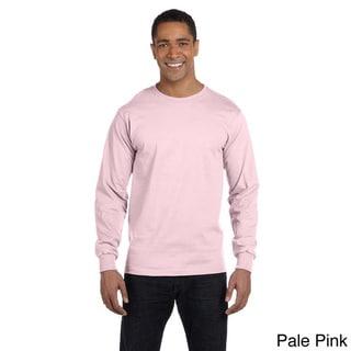 Hanes Men's 'Beefy-T' 6.1-ounce Cotton Long Sleeve Shirt