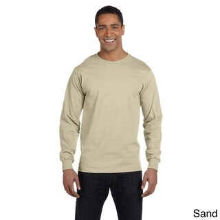Hanes Men's 'Beefy-T' 6.1-ounce Cotton Long Sleeve Shirt (Option: 3XL,SAND)
