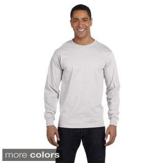 Hanes Men's 'Beefy-T' 6.1-ounce Cotton Long Sleeve Shirt|https://ak1.ostkcdn.com/images/products/9056208/Hanes-Mens-Beefy-T-6.1-ounce-Cotton-Long-Sleeve-Shirt-P16251359.jpg?impolicy=medium