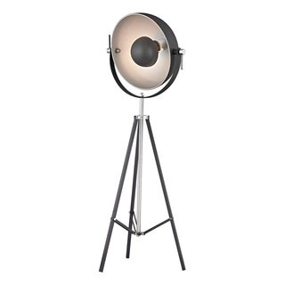 Dimond Backstage 1-light Matte Black and Polished Nickel Floor Lamp