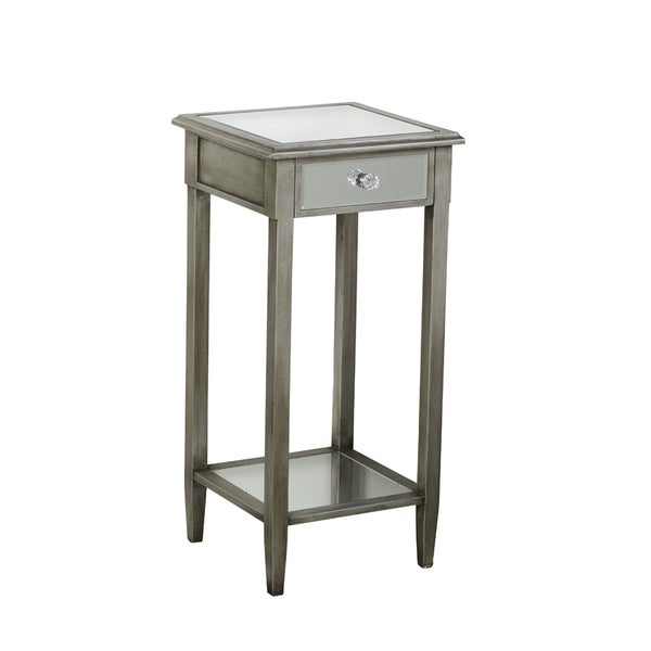 Shop Elements 30 Inch Mirrored 1 Drawer Accent Table