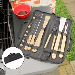 Personalized 11-piece BBQ Tool Set