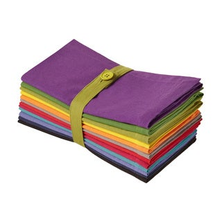 Celebration Multicolor Assorted Solid Dinner Napkins (Set of 12)