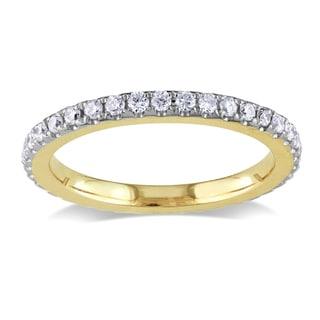Miadora 14k Yellow Gold 1/4ct TDW Diamond Eternity Ring (G-H, SI1-SI2)