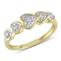 Miadora 10k Yellow Gold Diamond Accent Heart Ring