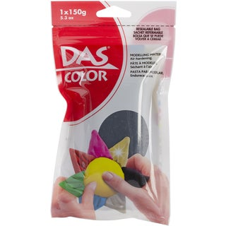 Das Colored Air Dry Clay 5.3 Ounces-Black