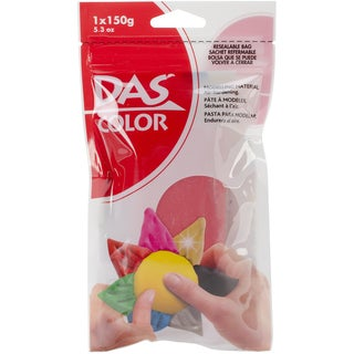 Das Colored Air Dry Clay 5.3 Ounces-Red