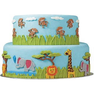 Fondant Gum Paste Mold-Jungle Animals