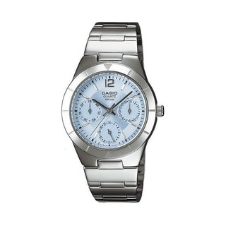 Casio Women's LTP2069D-2A Dress Blue Dial Silvertone Watch