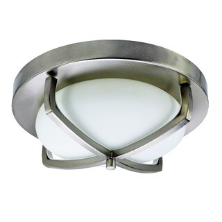 HomeSelects 6164 X Light 2-light Flush Mount Ceiling Light