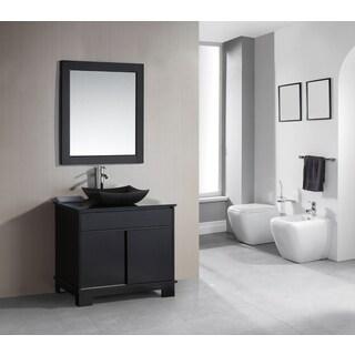 Design Element Oasis Espresso LED Backlite 36 Inch Single Sink Vanity Set