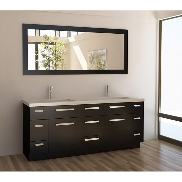 Design Element Moscony Espresso 72-inch Double Sink Vanity Set ...