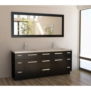 Design Element Moscony Espresso 72-inch Double Sink Vanity Set
