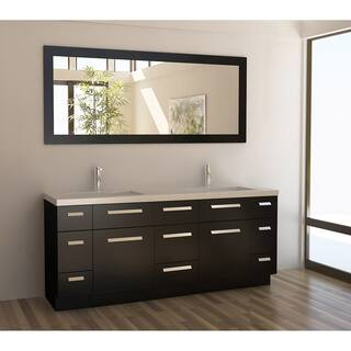espresso vanity set with bench. Design Element Moscony Espresso 72 inch Double Sink Vanity Set Bathroom Vanities  Cabinets For Less