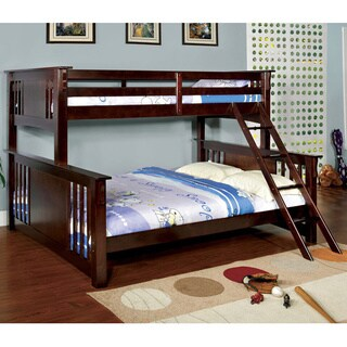 Turin Dark Walnut Finish Twin Over Queen Bunk Bed