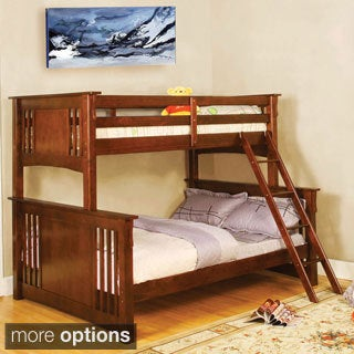 Klina Mission Styled Twin Over Full Bunk Bed