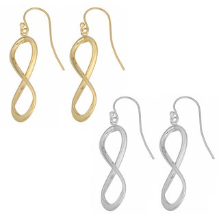 Fremada 10k Gold Infinity Dangle Earrings