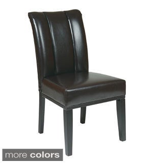 Metro Plated Parsons Chair with Espresso Finish Legs