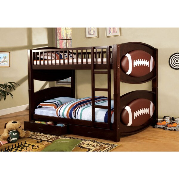 Olympic V Twin Bunk Bed With Football Design