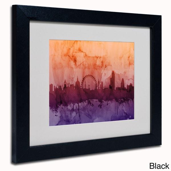 shop michael tompsett 39 london england skyline 39 framed matted art on sale free shipping today. Black Bedroom Furniture Sets. Home Design Ideas
