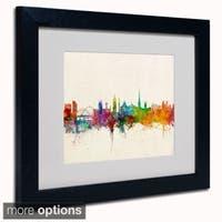 Michael Tompsett 'Newcastle England Skyline' Framed Matted Art