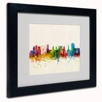 Michael Tompsett 'Nottingham England Skyline' Framed Matted Art