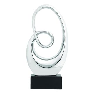 Chrome/ Black Abstract Spiraling Sculpture