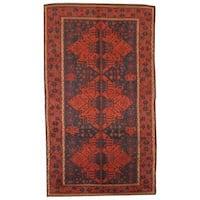 Herat Oriental Persian Hand-knotted 1930s Antique Hamadan Wool Rug (6' x 10'5) - 6' x 10'5