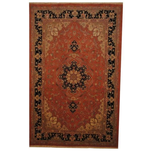 Herat Oriental Persian Hand-knotted Tabriz Wool and Silk Rug (6'6 x 10'1) - 6'6 x 10'1