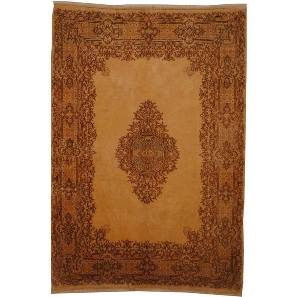 Herat Oriental Persian Hand-knotted 1960s Semi-antique Kerman Wool Rug (6' x 9'7) - 6' x 9'7