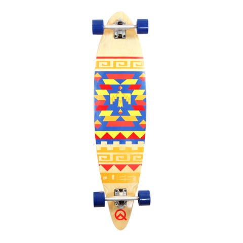 Quest 41-inch Tribes Pin-kick Tail Longboard