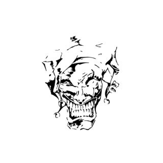 Evil Joker Vinyl Wall Art