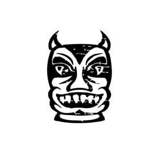 Evil Mask Vinyl Wall Art
