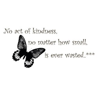 Act of Kindness Quote Vinyl Wall Art