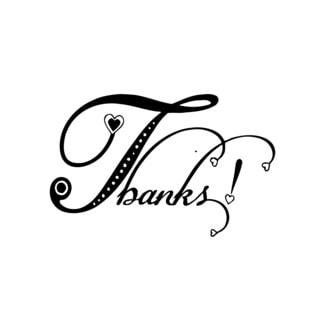 Thank You Sign Vinyl Wall Art