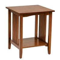 Office Star Products Sierra Mission Medium Oak Wood Finish Side Table