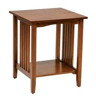 Sierra Mission Medium Oak Finish Side Table