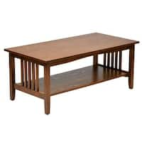 Porch & Den Over-the-Rhine Clifton Mission Medium Oak Finish Coffee Table