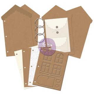 "Prima Mixed Media Chipboard Album 6.5""X11""-House"