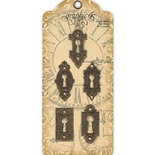 Staples Ornate Metal Key Holes 5/Pkg-Shabby Chic 5 Styles