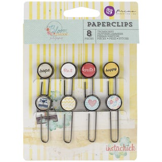 Bloom Typewriter Key Paper Clips 2in 8/Pkg