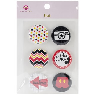 Magic Flair Self-Adhesive Tin Badges 6/Pkg-#3