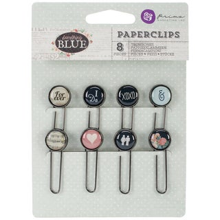 Something Blue Typewriter Key Paper Clips 2in 8/Pkg