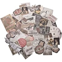 Tim Holtz Idea-ology Ephemera Pack 54 Pieces-Thrift Shop