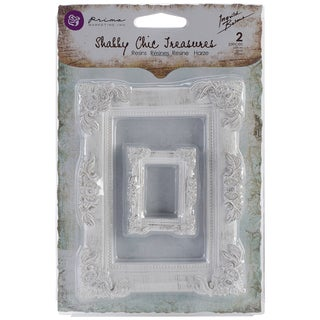 Shabby Chic Treasures Resin Embellishments-Baroque Frames 2/Pkg